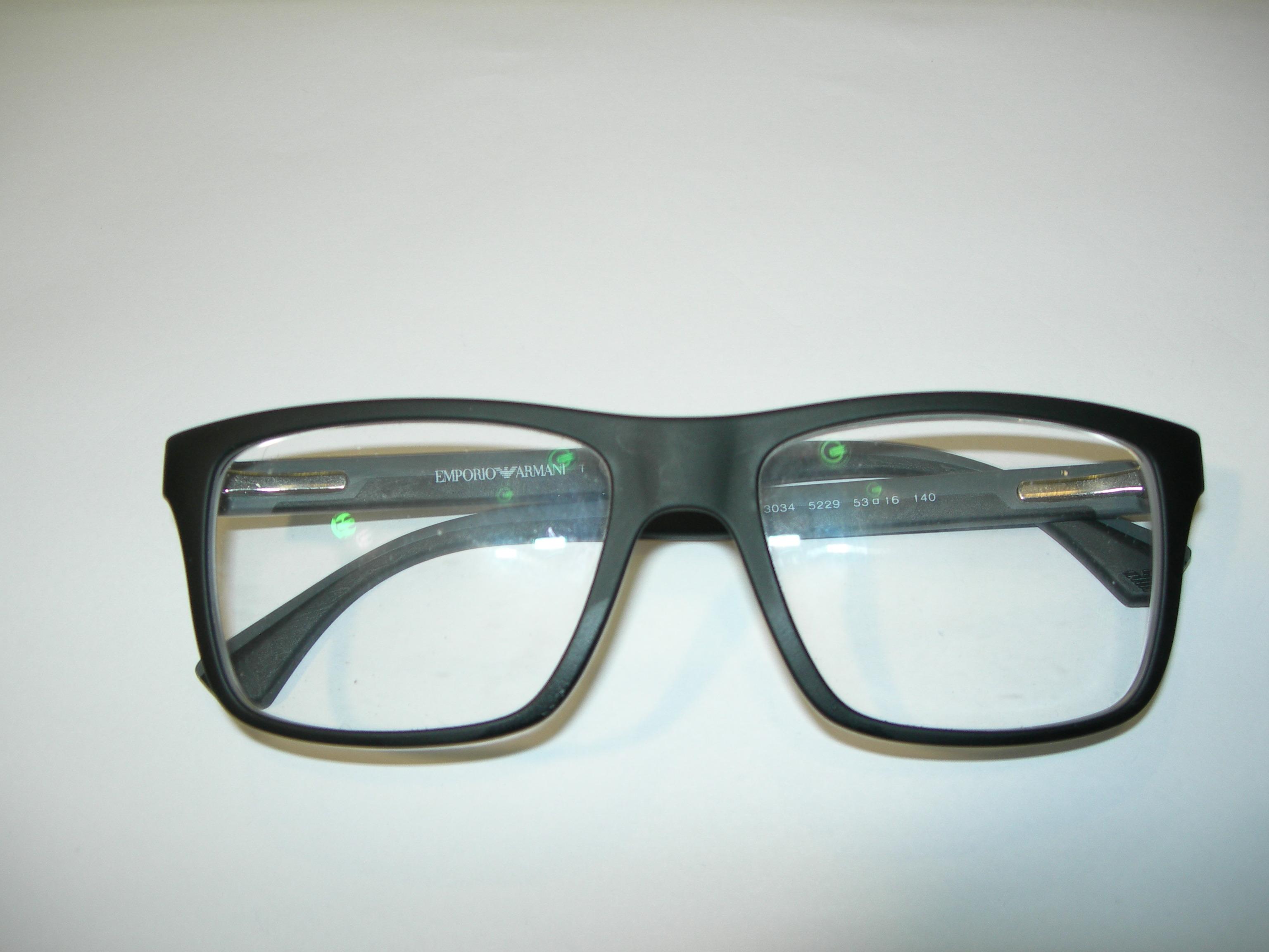 emporio armani glasses serial number check